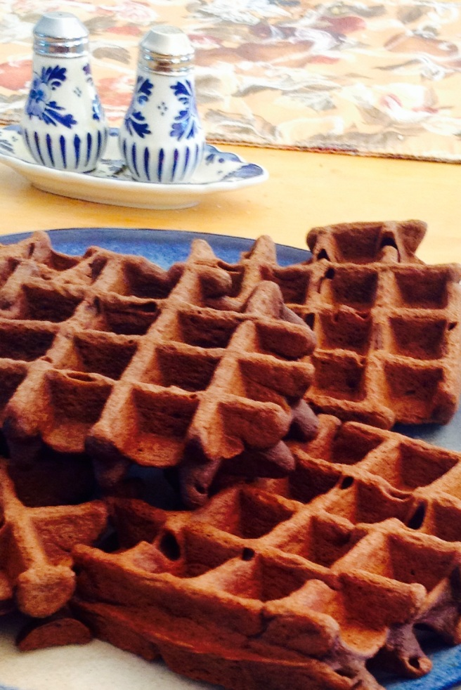 Purely Twins Chocolate Plaintain Waffles