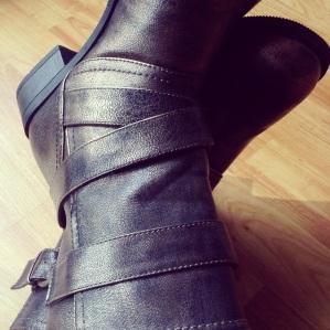 Bronze combat-ish boots