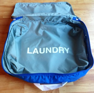 Packing cube laundry side