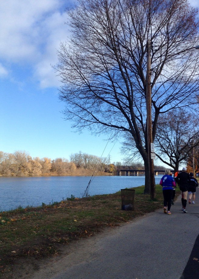 Running by Mowhawk River