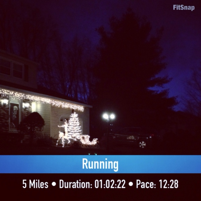 Unplanned xmas light run
